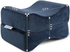 LANGRIA Knee Pillow Memory Foam Leg Pillows for Leg Back - SleepSharp