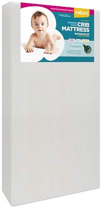 Milliard Premium Memory Foam Hypoallergenic Infant Crib Mattress - SleepSharp