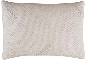 Snuggle Pedic Ultra Luxury Bamboo Shredded Memory Foam Pillow Combination with Adjustable Fit and Zipper Removable Kool Flow - SleepSharp