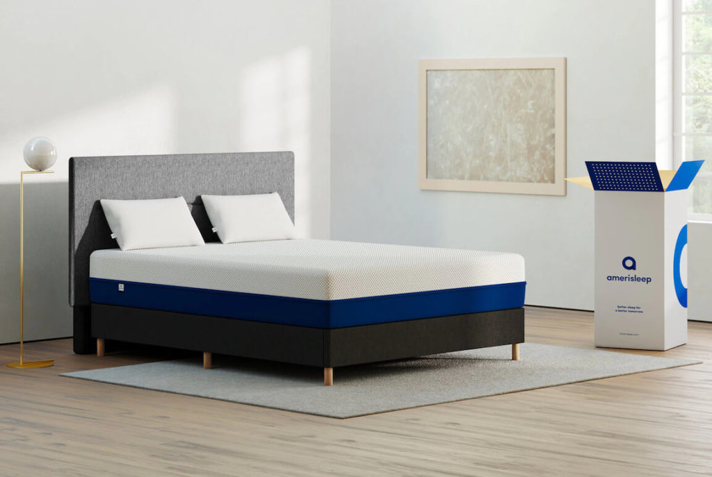 amerisleep as3 mattress near box - SleepSharp