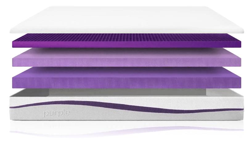 purple mattress layers - SleepSharp