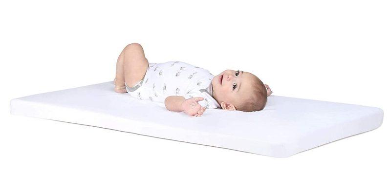 toddler on pack n play mattress - SleepSharp